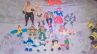 Take All 90s 2000 toys Vader WWE He-Man 1988 Playmate 1996 Yu-Gi-Oh Mcdo