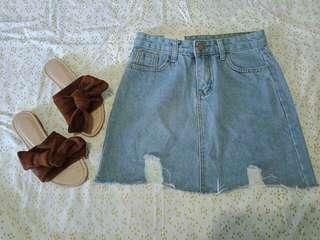 Denim Skirt M-L