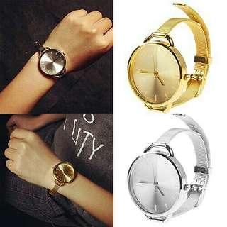 Mesh Quartz Wristwatch