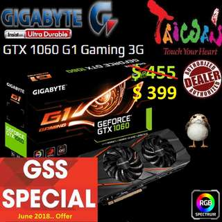 Gigabyte G1 series GTX 1060 G1 Gaming 3G.