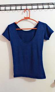 Scoopback and Offshoulder Blouse