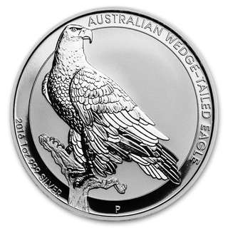 2016 Perth Mint Wedge tail eagle 1 oz silver coin