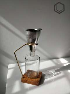 LUR Handmade Glass Coffee dripper set with filter