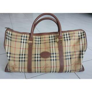 Burberry 手提旅行袋 Nova Check Plaid Pattern Travel Bag