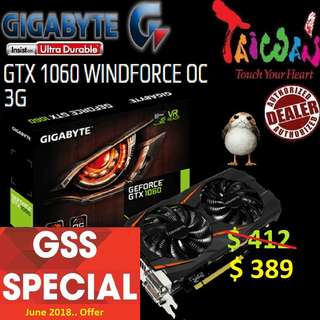 Gigabyte WINDFORCE GTX 1060  OC 3G.