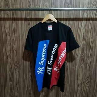 Kaos Supreme Stripe Color Aplikasi Premium