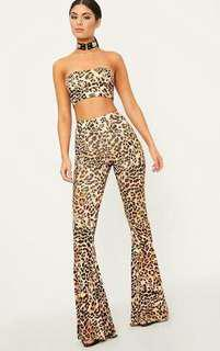 Festival flares leopard pretty little thing