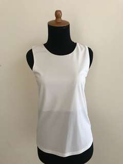 Backless white top