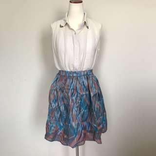Batik flare skirt