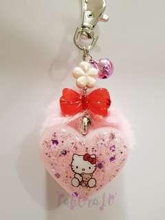 Sanrio Hello Kitty Furball with bell Resin Charm Keychain