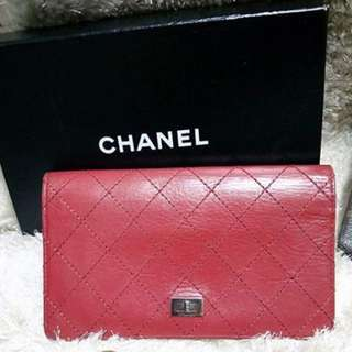 Chanel 2.55 red long wallet 長銀包