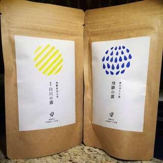 日本產名古屋綠茶 - 松風園茶舖 <白川の露 飛驒の露>