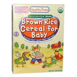 Healthy Times Organic Brown Rice Cereal for Baby / 8 oz (227 g)