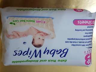 B Care Baby Wipes 80's