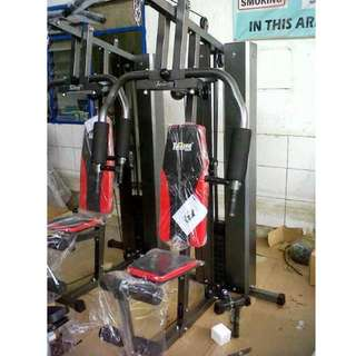 Home Gym 1 Sisi HG-008 Beban 50Kg Alat Olahraga Fitness Pembentuk Otot Tubuh