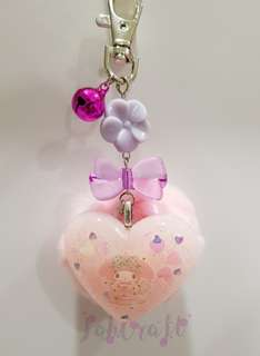 Sanrio My Melody Furball with bell Resin Charm Keychain