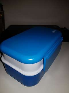 Oasis lunch box double lock tight bento stackable blue
