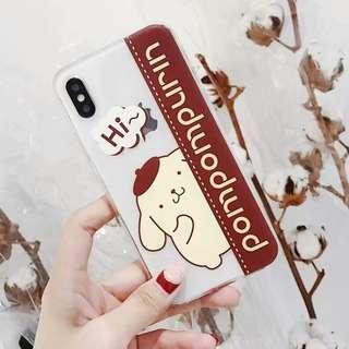 (W)手機殼IPhone6/7/8/plus/X : 布甸狗全包邊透明軟殼