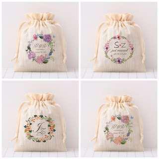 🚚 Customised Drawstring Linen bag