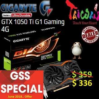 Gigabyte GTX 1050 Ti G1 Gaming 4G.