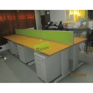 LINEAR WORKSTATIONS WITH PANEL DIVIDERS--KHOMI