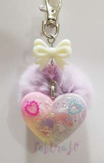 Sanrio Little Twins Star Furball Resin Charm Keychain
