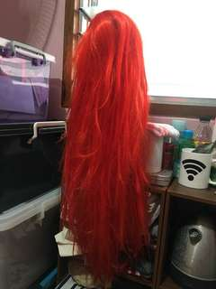 RED-ORANGE Wig for Cosplay