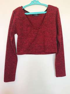 RED top and skirt TERNO
