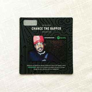 Starbucks Spotify Chance the Rapper Card - US