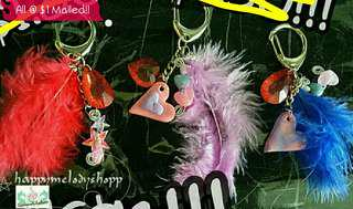 Clearance sale all @$1 mailed!!  Hang bag feather