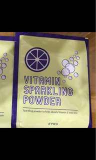 🚚 A'PIEU 肌膚PH平衡維他命C氣泡粉 VITAMIN SPARKLING POWDER