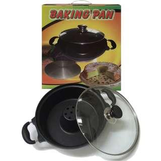Cetakan kue Bolu Baking pan di atas kompor anti lengket murah dan berkualitas