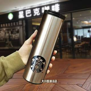 *FreePostage*Starbucks Cup Stainless Steel Thermos  Portable Coffee Mug Cup(with bag&box)