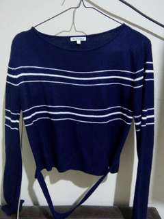 COLORBOX CROPPED STRIPPED SWEATER