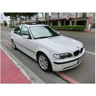 2001年    BMW   318I    白   ✅0頭款 ✅免保人✅低利率✅低月付 FB搜尋:阿源 嚴選二手車/中古車買賣