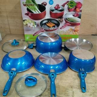 Cooking Set Panci Supra Set 7 Pcs Harga Murah Online