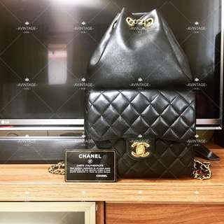 (SOLD)Chanel 黑色羊皮 Backpack 背囊