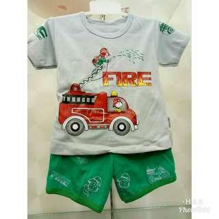 Kaos Anak Motif Pemadam Kebakaran Lucu