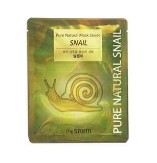 Pure Natural Snail Mask 10pcs