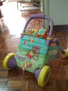 Push Walker for baby / toddler with washable cover