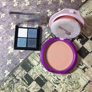 Eyeshadow and pressed powder