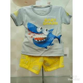 Kaos Anak Motif Baby Shark Lucu