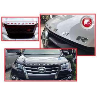 Toyota Fortuner Hood Emblem Metal 3D