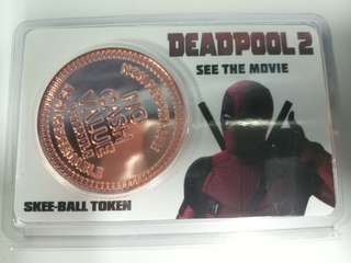 Deadpool 2 Skee Ball Token