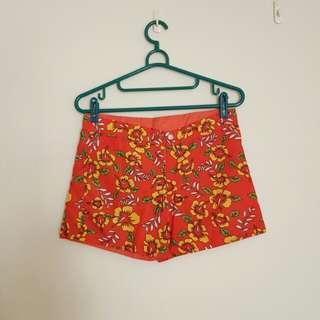 🚚 全新 橘紅色兩面可穿海灘短褲