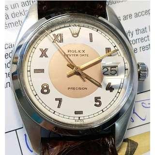 Vintage Rolex Oysterdate Precision Model #6494 California Dial circa 1958