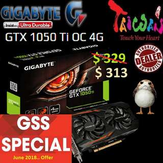 GeForce® Gigabyte GTX 1050 Ti OC 4G