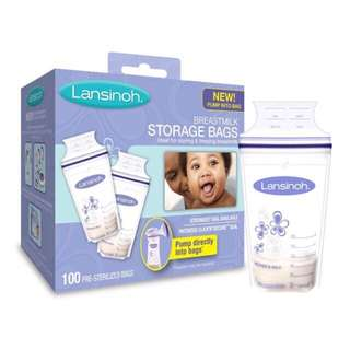 BNIB LANSINOH BREASTMILK STORAGE BAGS 100 ct.