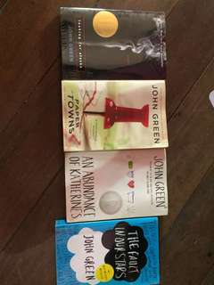 John Green Books! 250 each ( check description)