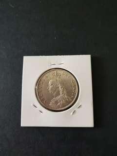 1887 2 Shillings